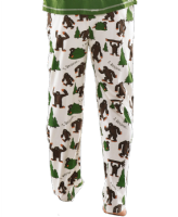 Men's I Believe Bigfoot PJ Trousers - Lazy One®  | Men's Pyjama Bottoms